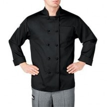 Chefwear 4400-30 Black Three Star Cloth-Knot Button