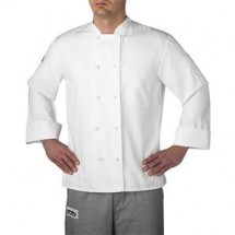Chefwear 4400-40 White Three Star Cloth-Knot Button