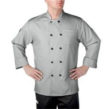Chefwear 4410-115 Silver Three Star Plastic Button Jacket