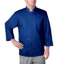 Chefwear 4410-116 Royal Blue Three Star Plastic Button Jacket