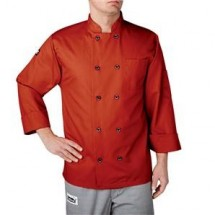 Chefwear 4410-117 Orange Three Star Plastic Button Jacket