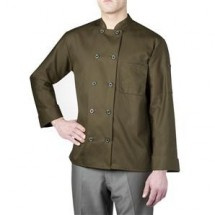 Chefwear 4410-147 Olive Three Star Plastic Button Jacket