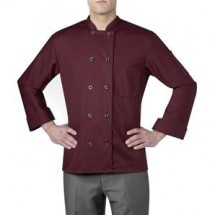 Chefwear 4410-148 Maroon Three Star Plastic Button Jacket