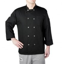 Chefwear 4410-30 Black Three Star Plastic Button Jacket