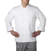 Chefwear 4410-40 White Three Star Plastic Button Jacket