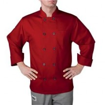 Chefwear 4410-78 Red Three Star Plastic Button Jacket