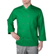 Chefwear 4410-79 Green Three Star Plastic Button Jacket