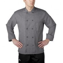 Chefwear 4410-90 Gray Three Star Plastic Button Jacket