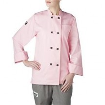 Chefwear 4420-108 Pink Three Star Women's Plastic Button Jacket