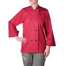 Chefwear 4420-126 Hot Pink Three Star Women's Plastic Button Jacket