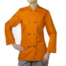 Chefwear 4420-149 Tangerine Three Star Women's Plastic Button Jacket