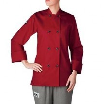 Chefwear 4420-78 Red Three Star Women's Plastic Button Jacket