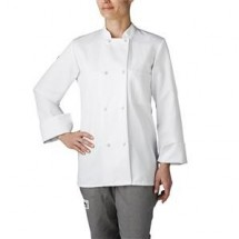 Chefwear 4430-40 White Women's Cloth-Knot Button Jacket