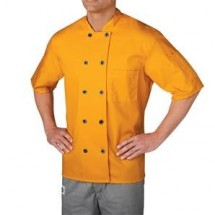 Chefwear 4455-114 Gold Three Star Plastic Button Jacket