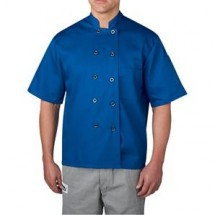 Chefwear 4455-116 Royal Blue Three Star Plastic Button Jacket