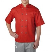 Chefwear 4455-117 Orange Three Star Plastic Button Jacket