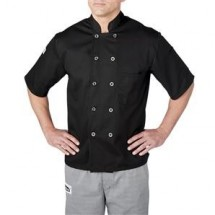 Chefwear 4455-30 Black Three Star Plastic Button Jacket