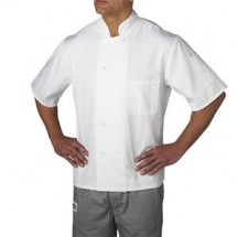 Chefwear 4455-40 White Three Star Plastic Button Jacket