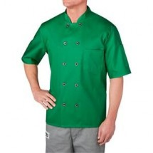 Chefwear 4455-79 Green Three Star Plastic Button Jacket