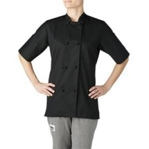 Chefwear 4460-30 Black Women's Short Sleeve Jacket