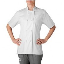 Chefwear 4460-40 White Women's Short Sleeve Jacket