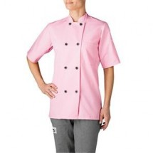 Chefwear 4465-108 Pink Women's Plastic Button Jacket