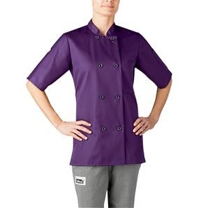 Chefwear 4465-127 Purple Women's Plastic Button Jacket