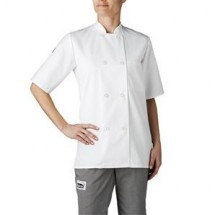 Chefwear 4465-40 White Women's Plastic Button Jacket