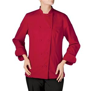 Chefwear 4925-78 Red Women's Mandarin Collar Barwear