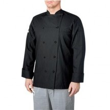 Chefwear 5000-50 Black/Grey Pinstripe Lined Traditional Jacket