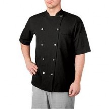Chefwear 5030-BK Black Short Sleeve Seersucker