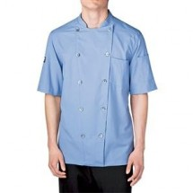 Chefwear 5030-BL Blue Short Sleeve Seersucker