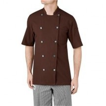 Chefwear 5030-BR Brown Short Sleeve Seersucker
