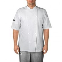 Chefwear 5030-WH White Short Sleeve Seersucker