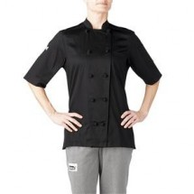 Chefwear 5250-BK Black Women's Short-Sleeve Jacket