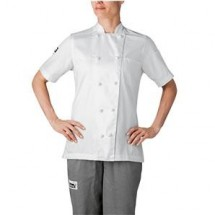 Chefwear 5250-WH White Women's Short-Sleeve Jacket