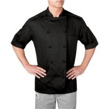 Chefwear 5511-BK Black Lightweight Short Sleeve Jacket
