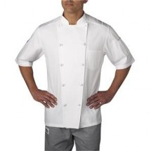 Chefwear 5511-WH White Lightweight Short Sleeve Jacket