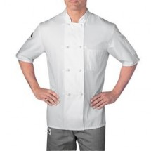 Chefwear 5610-WH White Four Star Short Sleeve Jacket