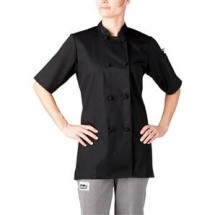 Chefwear 5615-BK Black Women's Cloth Jacket