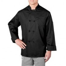 Chefwear 5650-30 Black Cloth-Knot Button Jacket