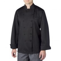 Chefwear 5690-205 Black on Black Stripe Four Star Executive Jacket