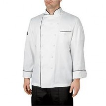 Chefwear 5690-P1  Black Piping Four Star Executive Jacket