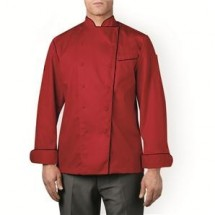 Chefwear 5690-P5 Red with Black Piping Stripe Four Star Executive Jacket