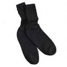 Chefwear 7940-30 Black Fruit of the Loom Work Socks