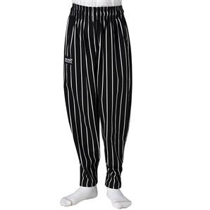 Chefwear 8200-35 Black Chalkstripe Pint Size 'Kids' Pants