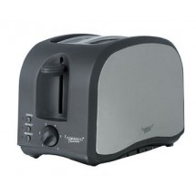 Continental CP43439 Platinum 2 Slice Stainless Black Toaster