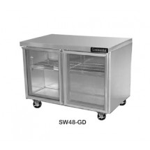Continental SW48-GD Work Top Display Refrigerator 48