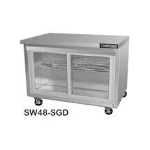 Continental SW48-SGD Work Top Display Refrigerator 48