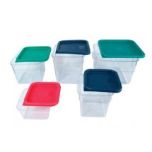 Crestware SQCL24 Lid Fits 2 & 4 Qt. Square Food Storage Containers